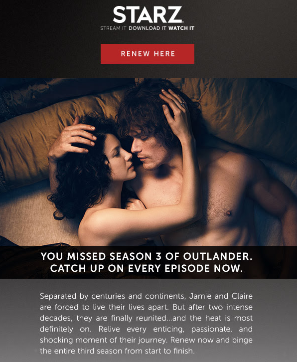 Treat yourself to a day in bed with Jamie and Claire