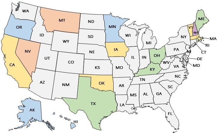 Four states with approved 1332 waivers